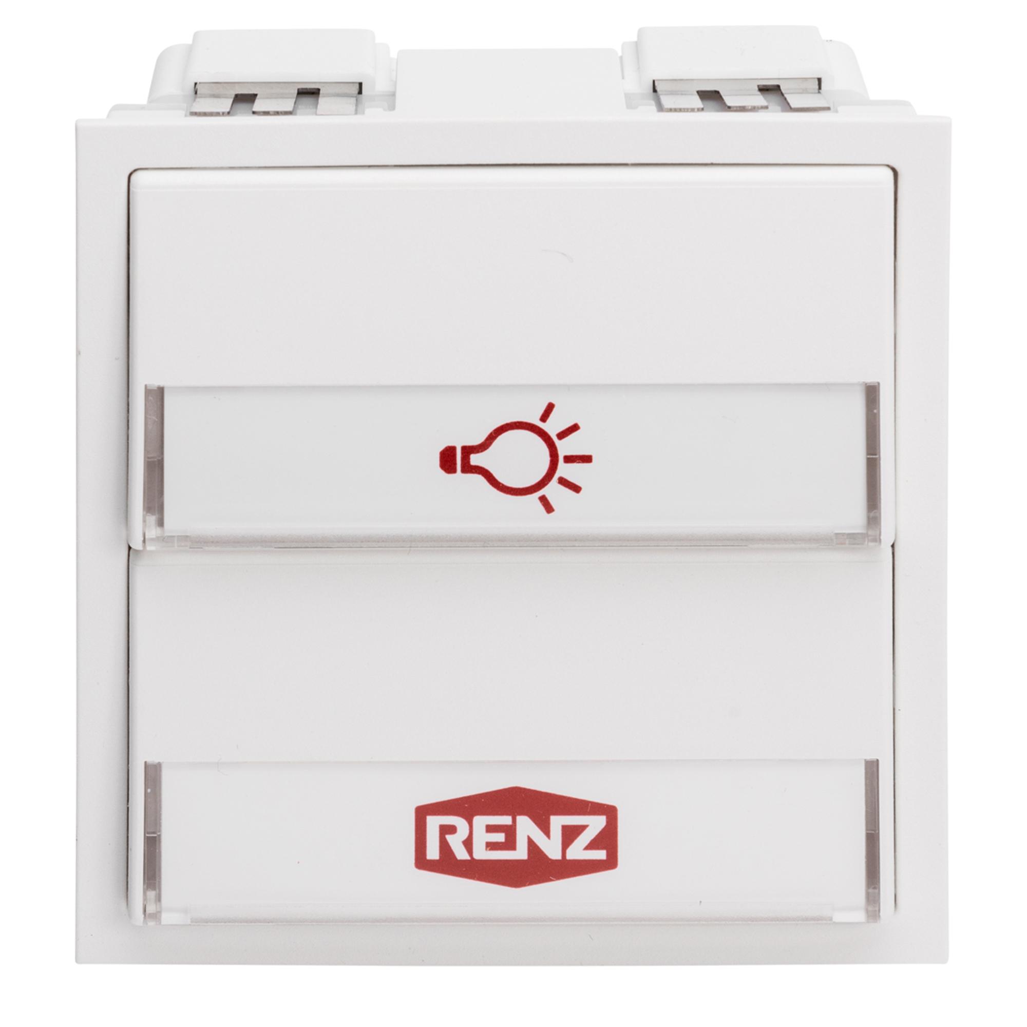 Renz Tastenmodul mit 1 Licht- und 1 Klingeltaster weiß