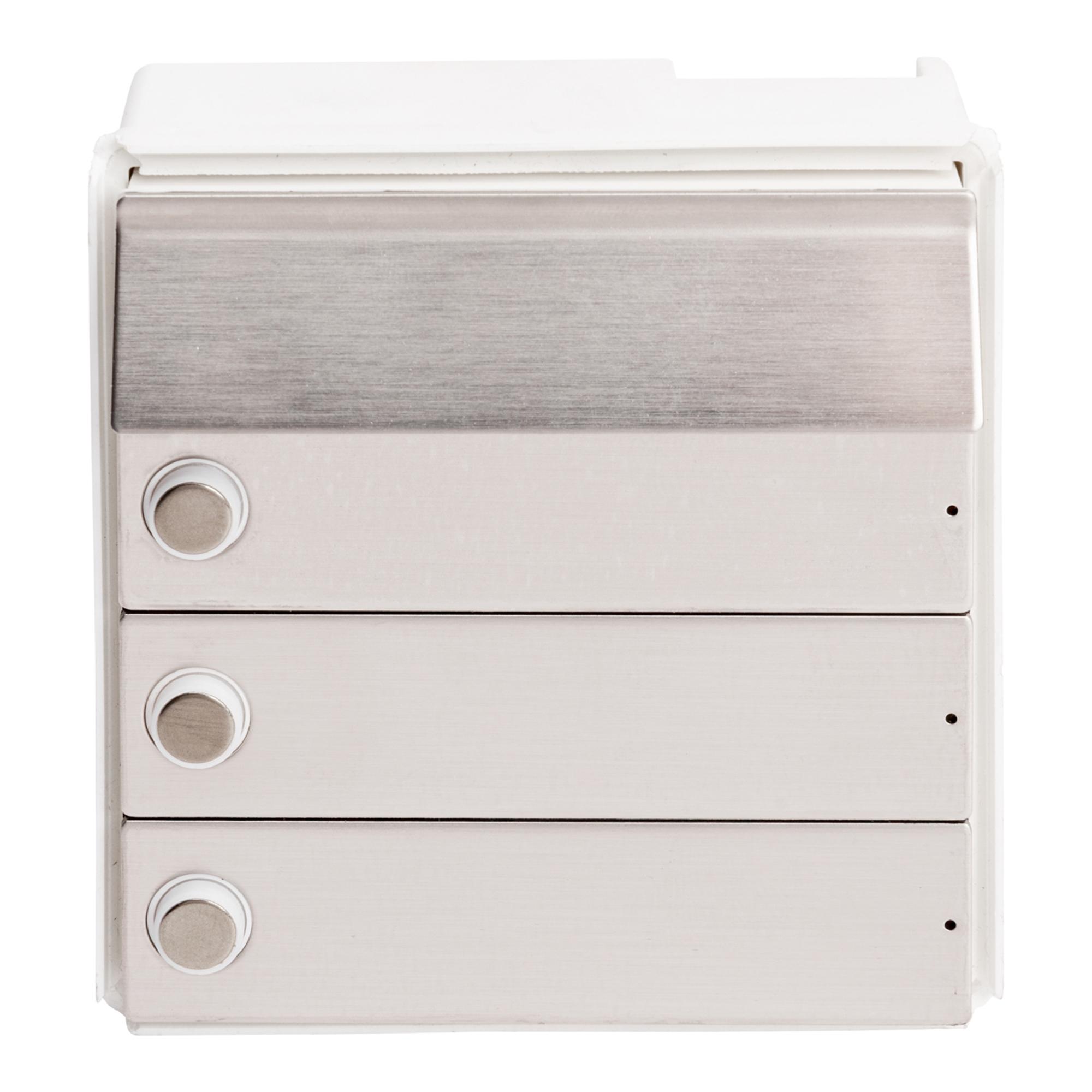 RENZ Tastenmodul RSA2 kompakt - 3 Klingeln-Edelstahl 97-9-85333