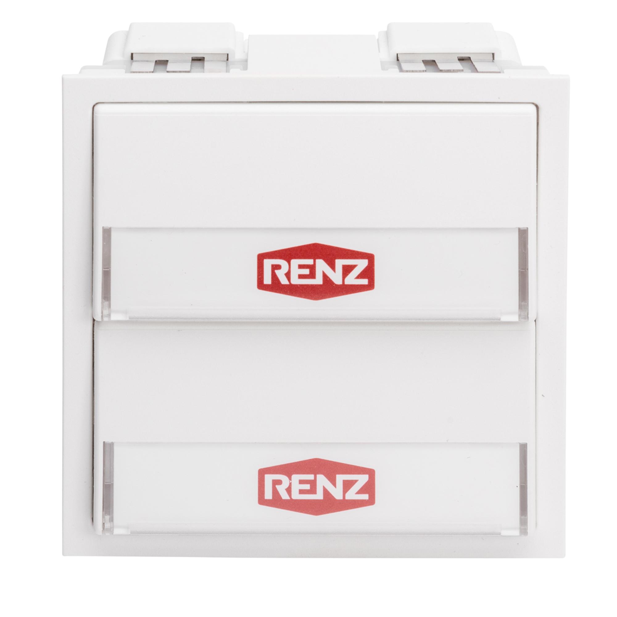 Renz Tastenmodul mit 2 Klingeltaster weiß