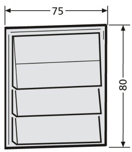 Renz Tastenmodul mit 4 Klingeltasten 97-9-85272 weiß