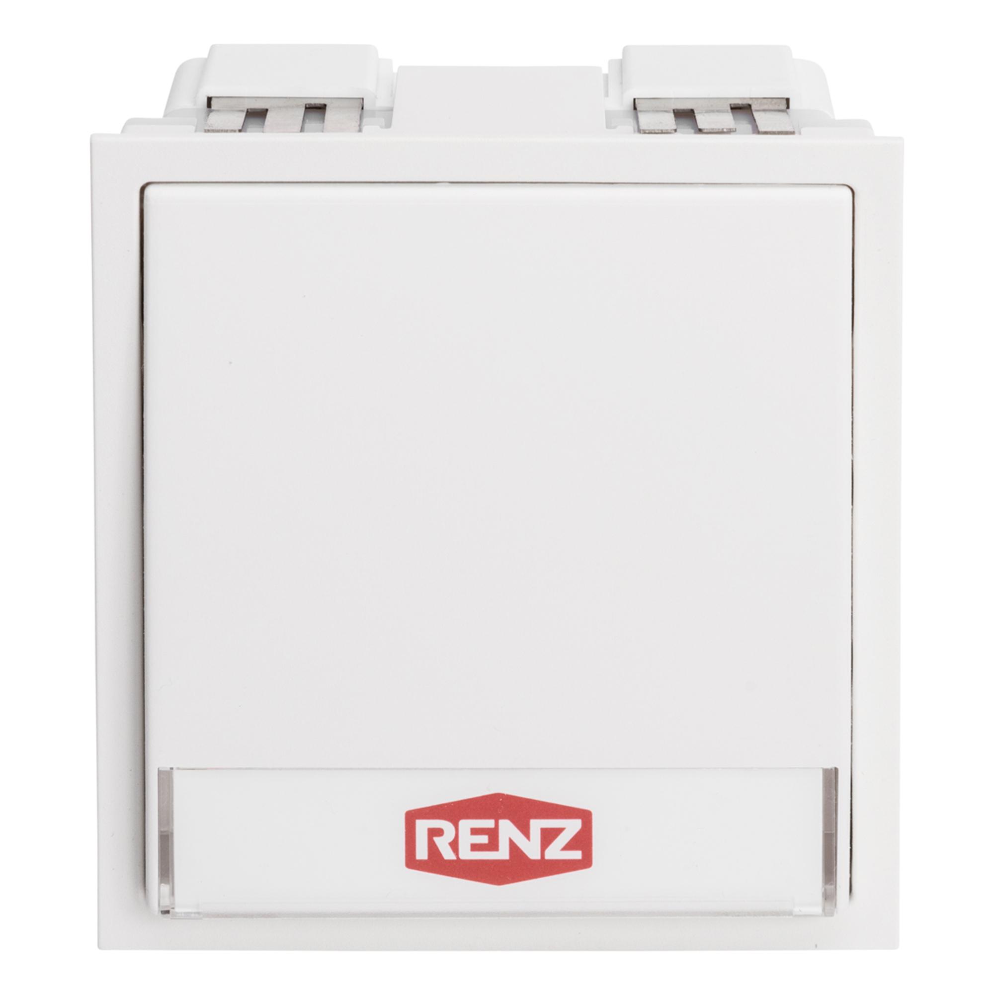 Renz Tastenmodul mit 1 Klingeltaster, Farbe: weiß
