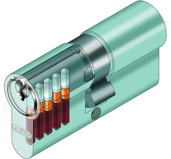 ABUS Profilzylinder Normal Beidseitig C73N Größe 30-35 3Schlüssel