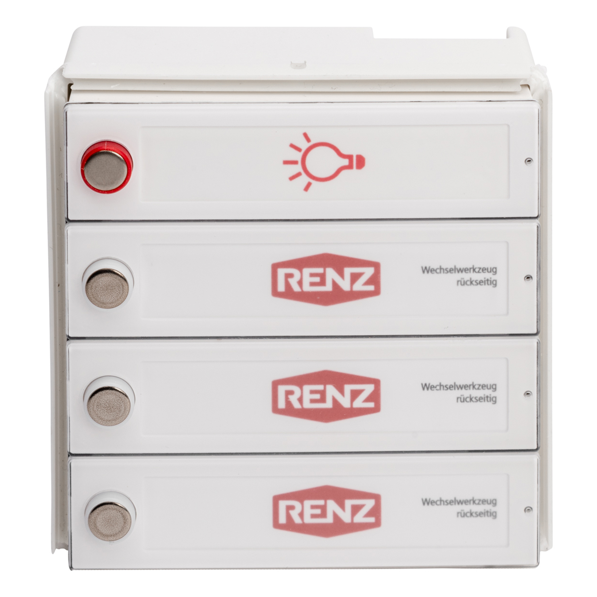 RENZ Tastenmodul RSA2 kompakt - 3 Klingel & 1 Licht 97-9-85331
