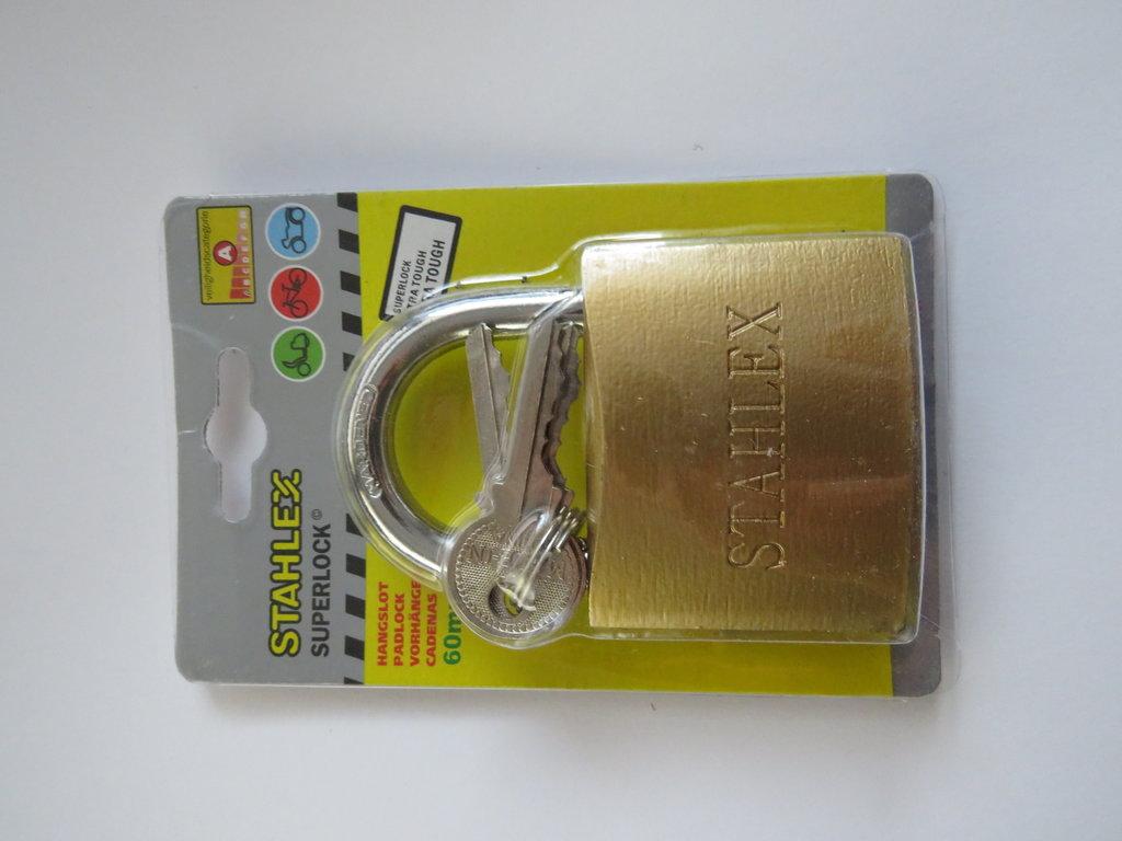 Vorhängeschloss 60 mm STAHLEX 3 Schlüssel
