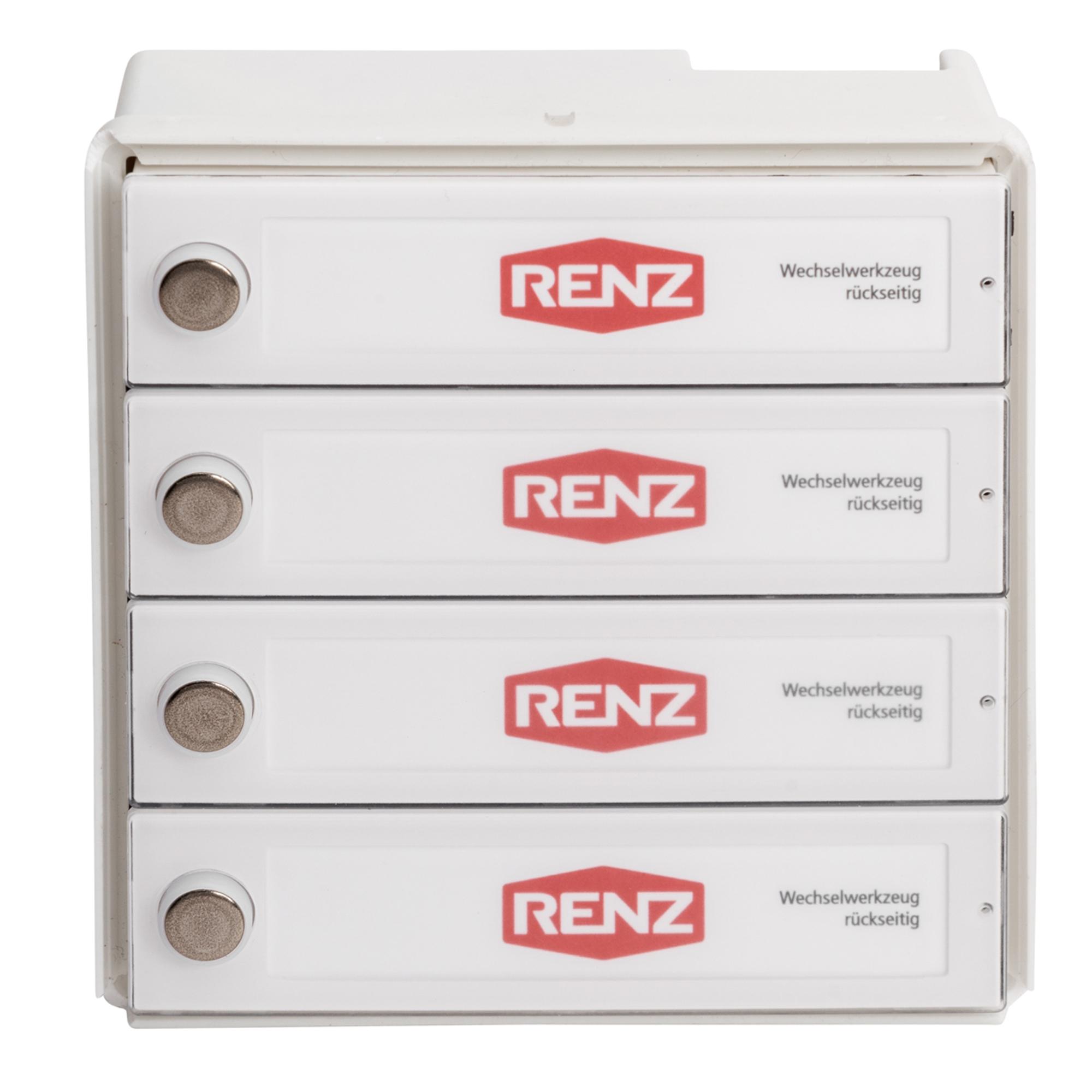 RENZ Tastenmodul RSA2 kompakt - 4 Klingeltaster 97-9-85329