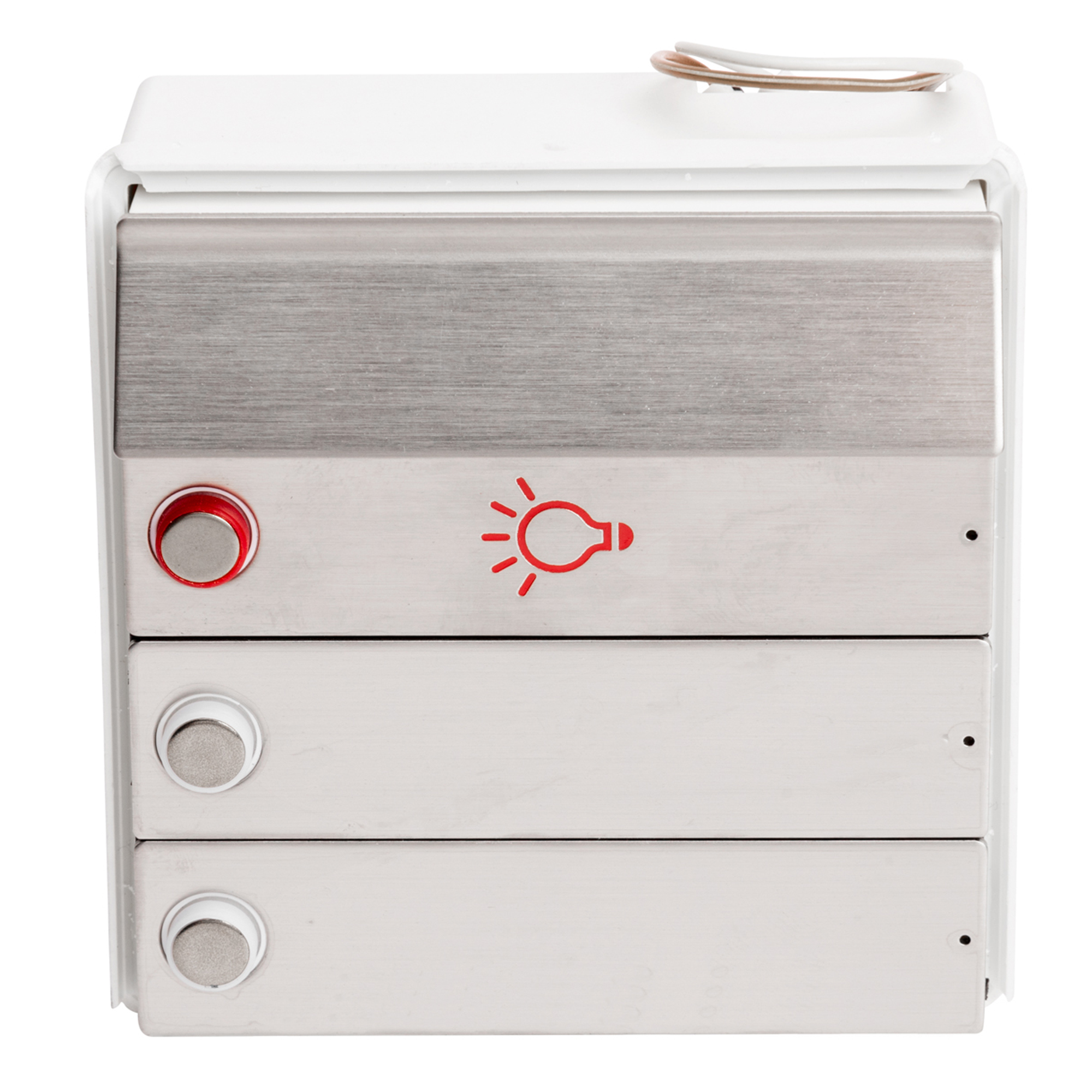 RENZ Tastenmodul RSA2 kompakt - 2 Klingelschilder & 1 Lichttaste-Edelstahl 97-9-85335