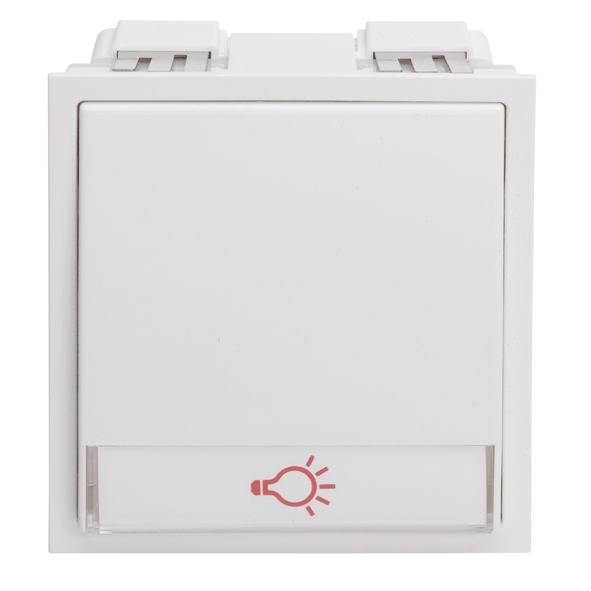 Renz Tastenmodul mit 1 Lichttaster weiß