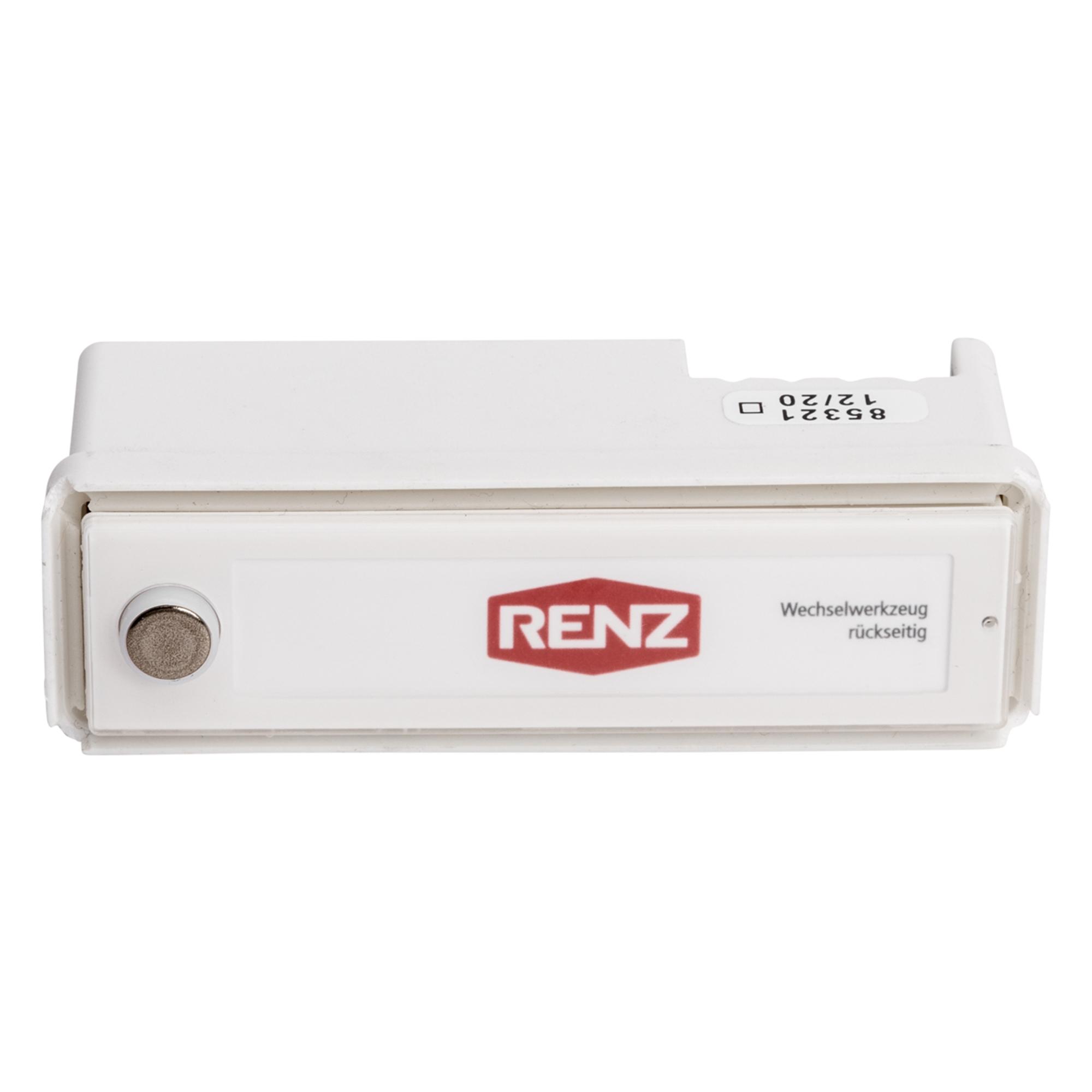 RSA2-kompakt Kunststoff-Namensschild mit Edelstahlknopf (mit Gehäuse)