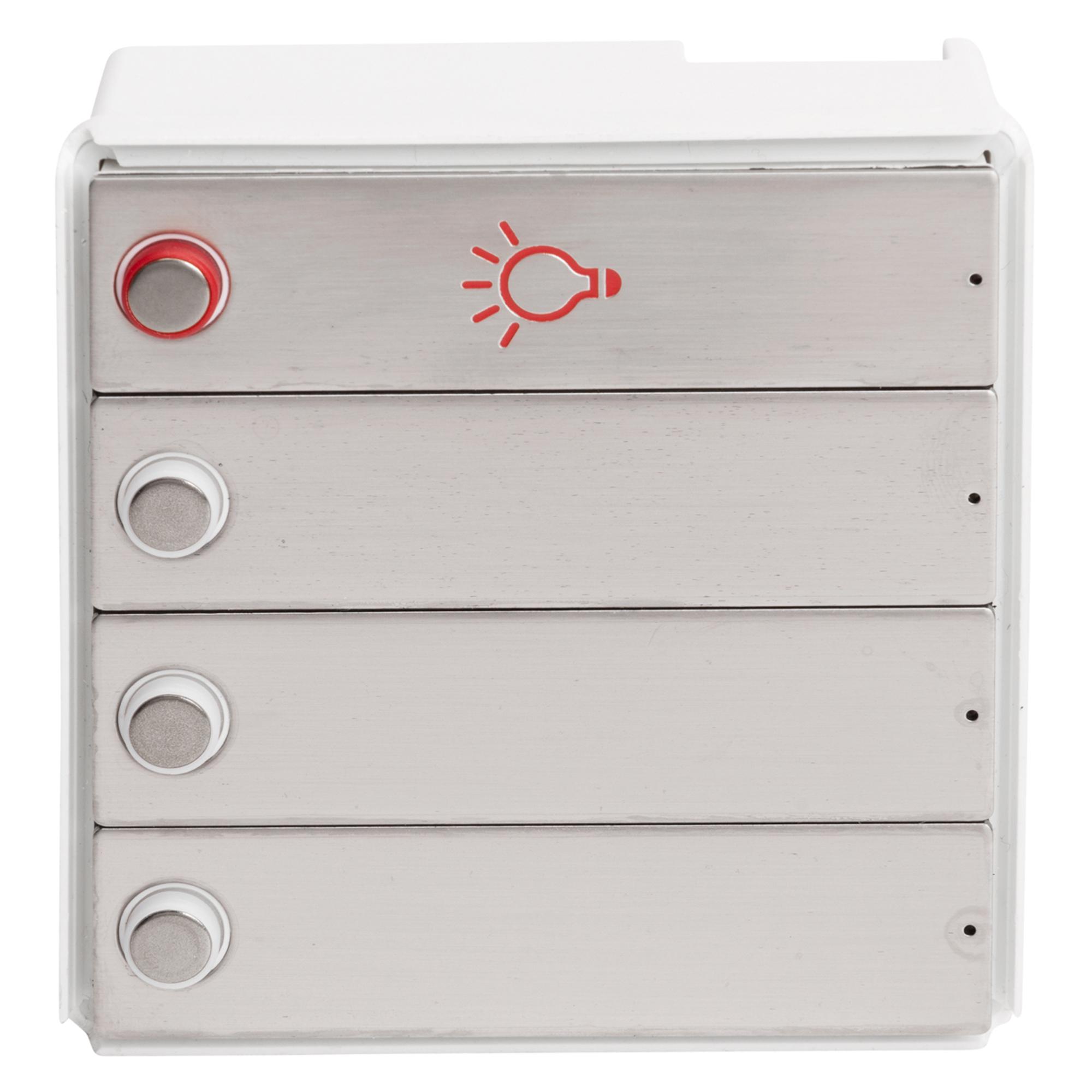 RENZ Tastenmodul RSA2 kompakt - 3 Klingel- & 1 Lichttaster-Edelstahl 97-9-85326