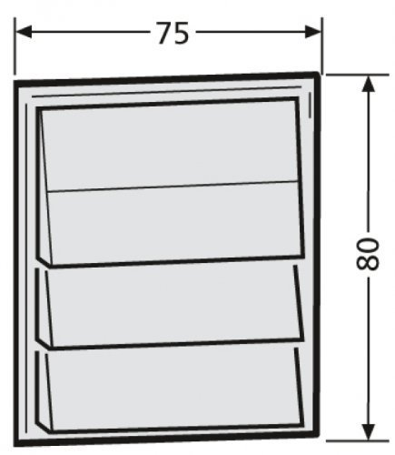 Renz Tastenmodul 1 Licht + 3Klingel 97-9-85276 weiß