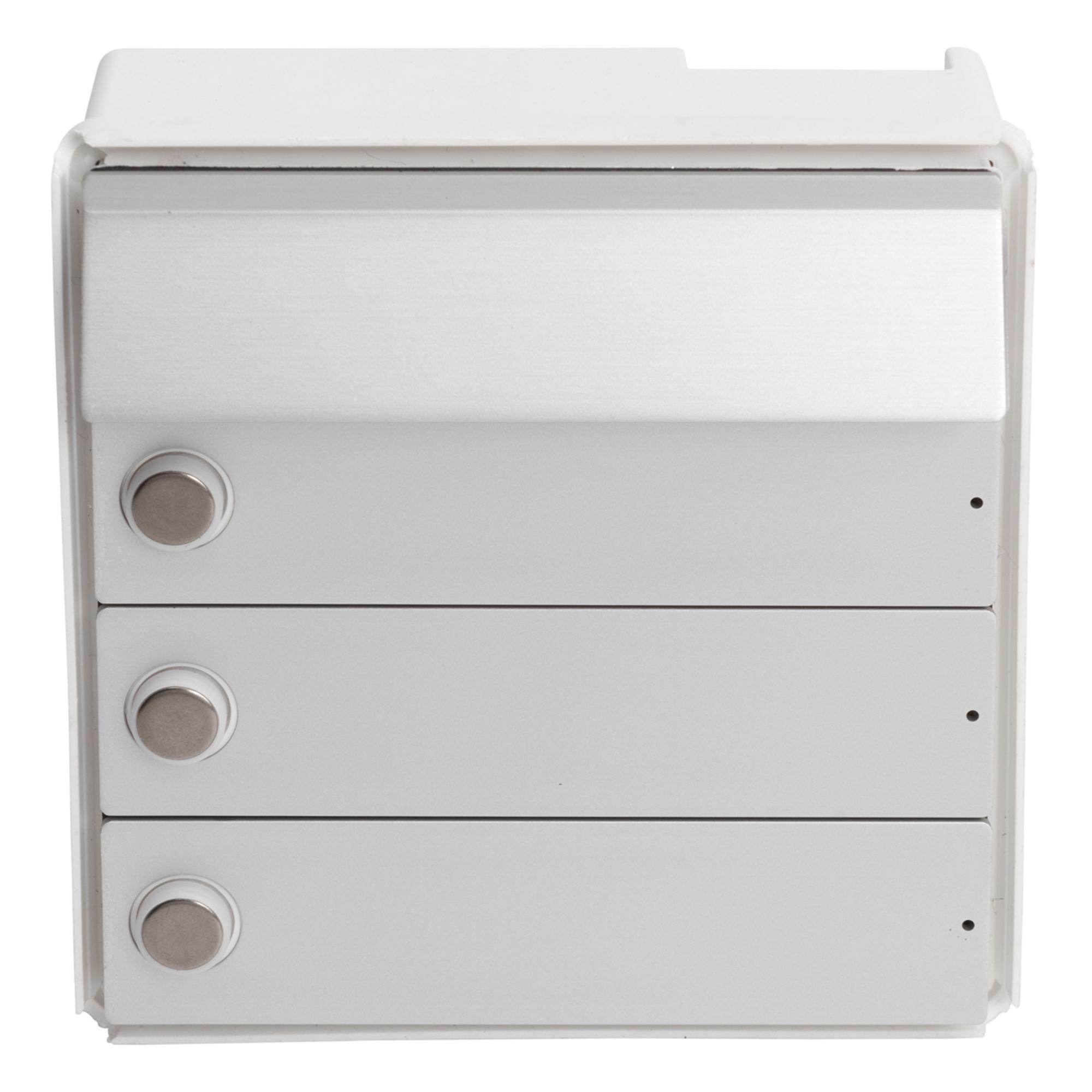 RENZ Tastenmodul RSA2 kompakt - 3 Klingeln-Aluminium 97-9-85334