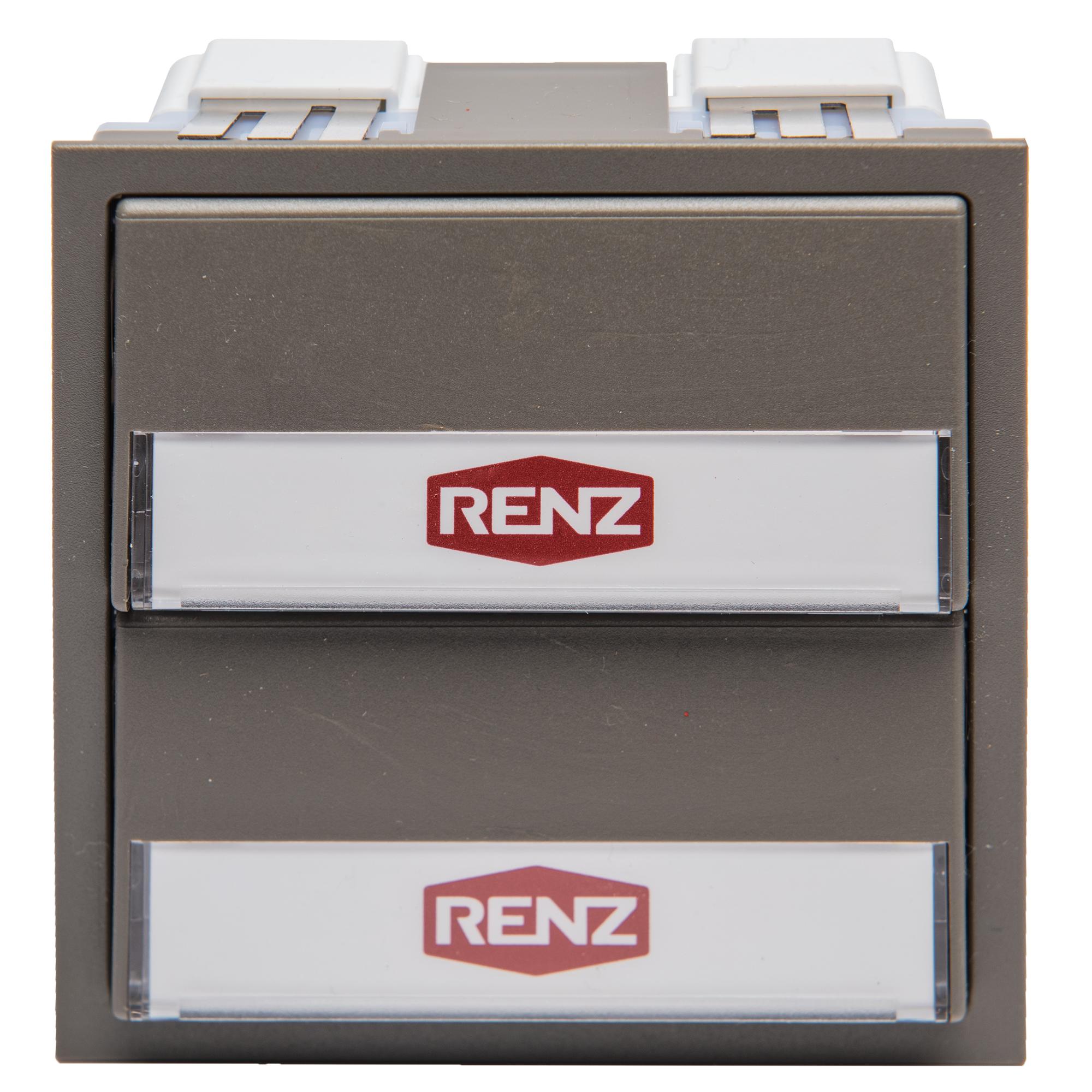 Renz Tastenmodul mit 2 Klingeltaster grau
