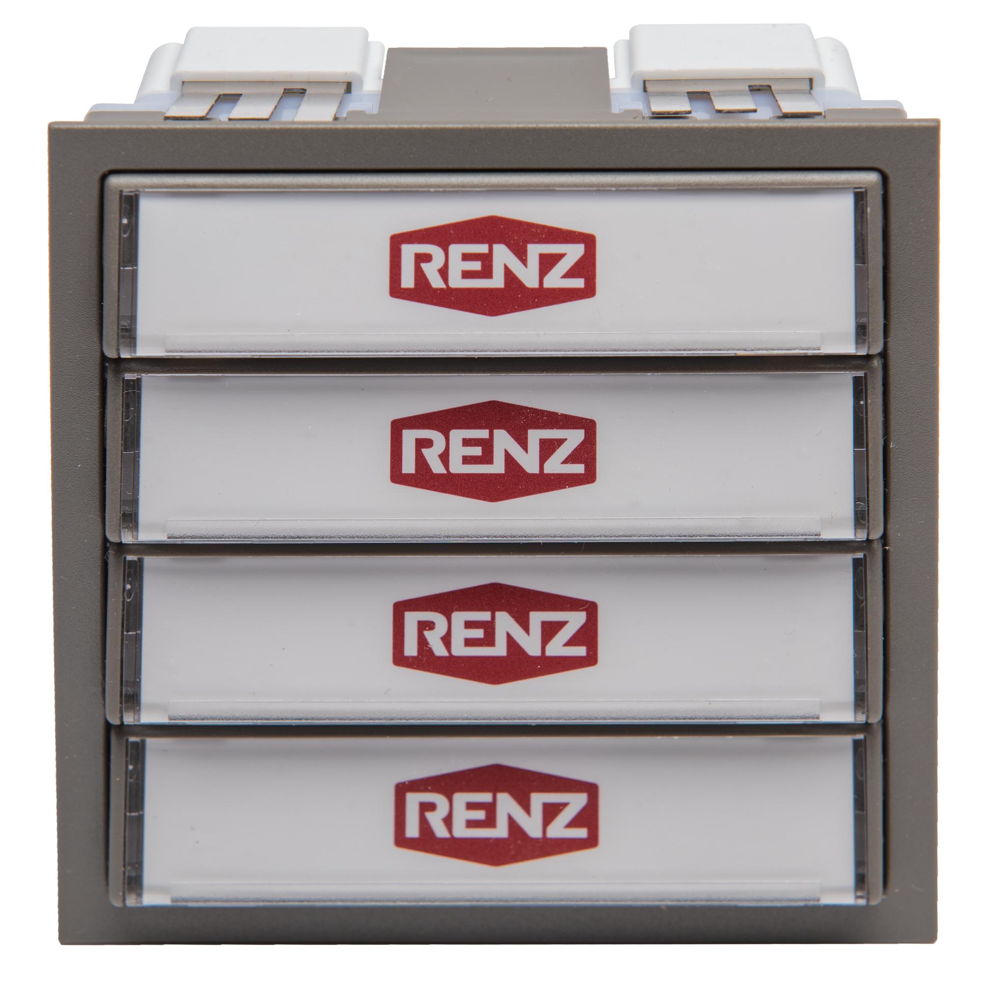 RENZ Tastenmodul mit 4 Klingeltaster 97-9-85272 grau